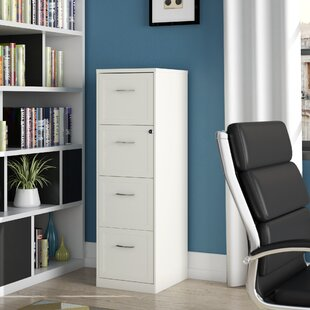 Cavitt 4 Drawer Vertical Filing Cabinet by Ebern Designs Best Design