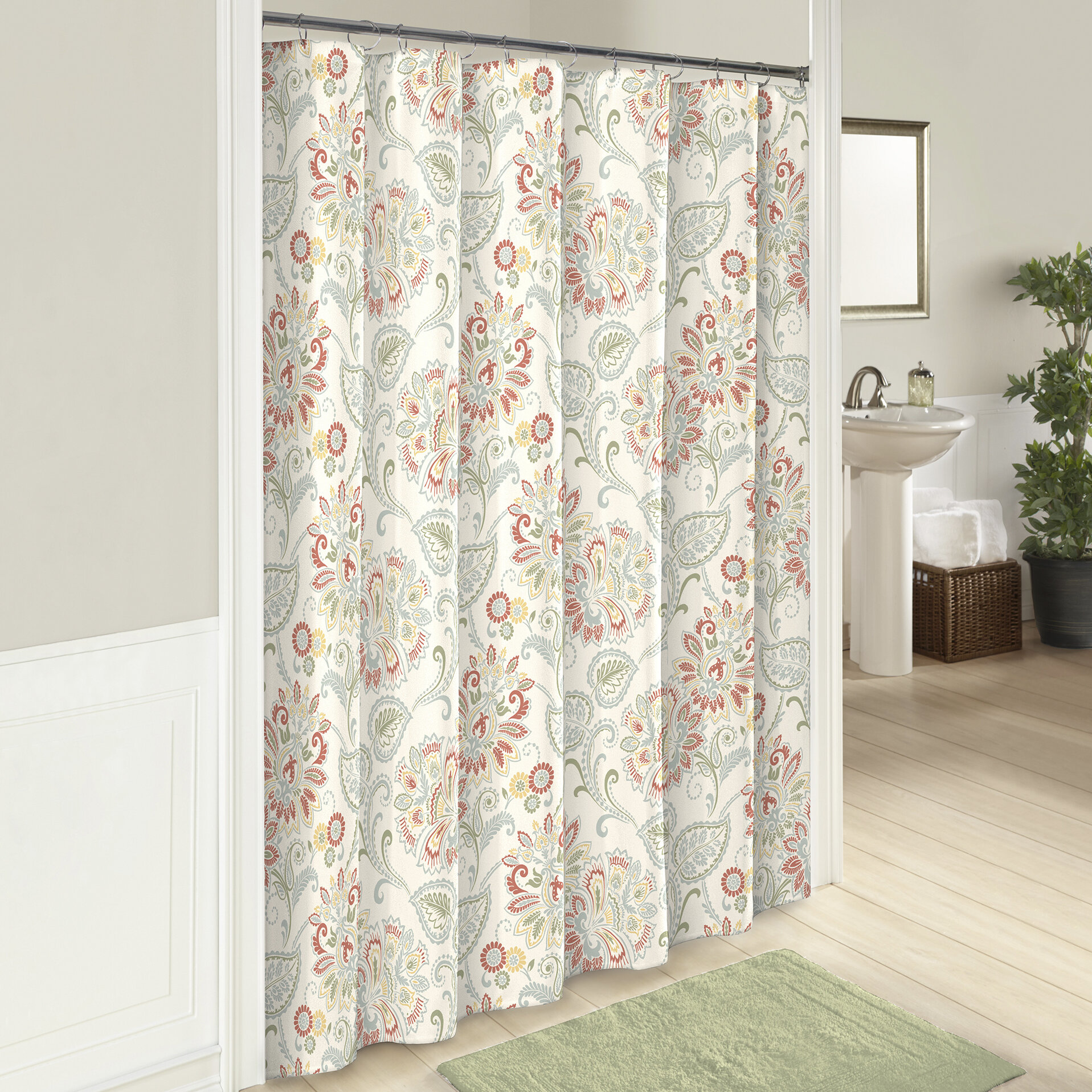 Fieldon Cotton Single Shower Curtain Reviews
