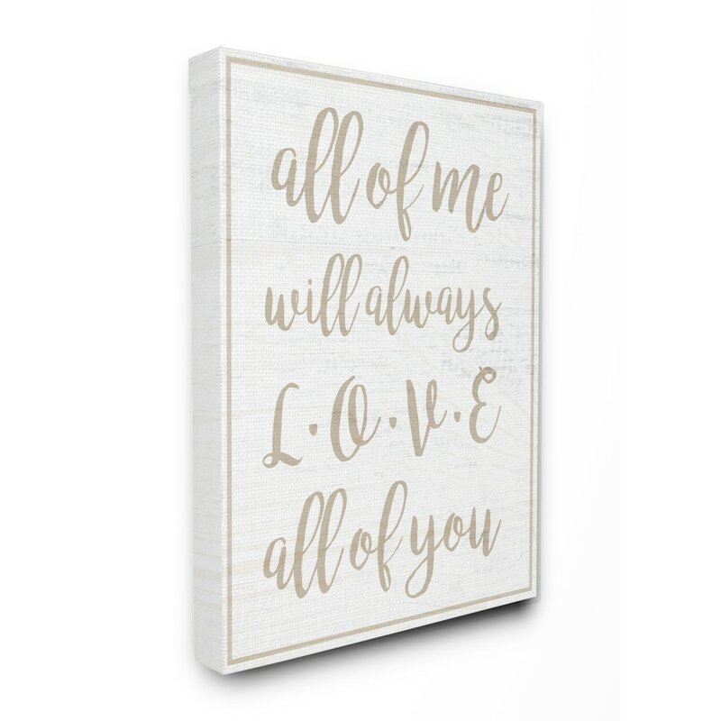 Ebern Designs I Will Always Love All Of You Panoramic Graphic Art Print Set On Canvas Wayfair