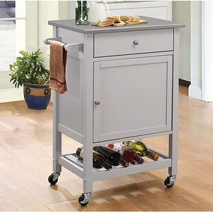 Alcott Hill Kunkel Stainless Steel Wheeled Kitchen Cart