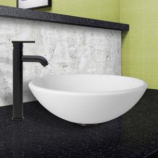 Price Check Phoenix Glass Circular Vessel Bathroom Sink with Faucet By VIGO