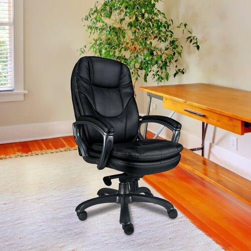 Chefsessel Managers aus Leder mit hoher Rückenlehne Brayden Studio   Büro > Bürostühle und Sessel  > Chefsessel   Brayden Studio