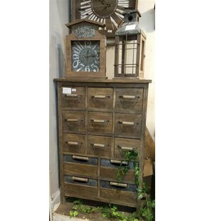 Gracie Oaks Alexis Rustic 13 Drawer Accent Chest