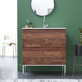 Nova Solid Sheesham 810mm Free-Standing Single Vanity Unit By Tikamoon