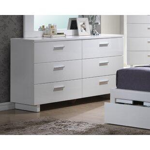 Branchville 6 Drawer Double Dresser by A&J Homes Studio No Copoun
