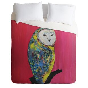East Urban Home Owl on Lipstick Duvet Cover Set