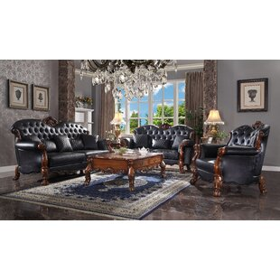 Abhisekh 3 Piece Button Tufted Living Room Set by Bloomsbury Market
