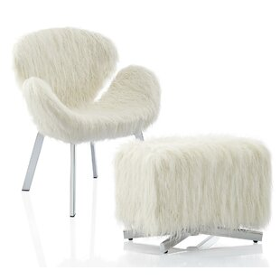 CosmoLiving by Cosmopolitan Estelle Chair and Ottoman