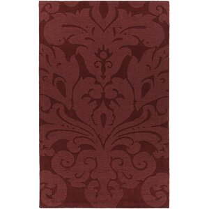 Raya Contemporary Wool Red Area Rug