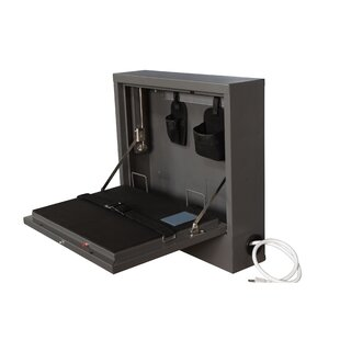 Wall Mount Laptop Safe Security Cabinet by Sandusky Cabinets