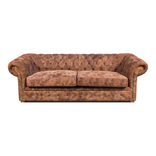 El Paso Saloon Leather Chesterfield Sofa