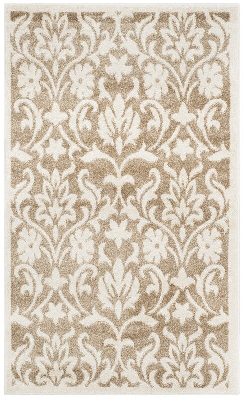 Three Posts Barron Beige Indoor/Outdoor Area Rug & Reviews | Wayfair