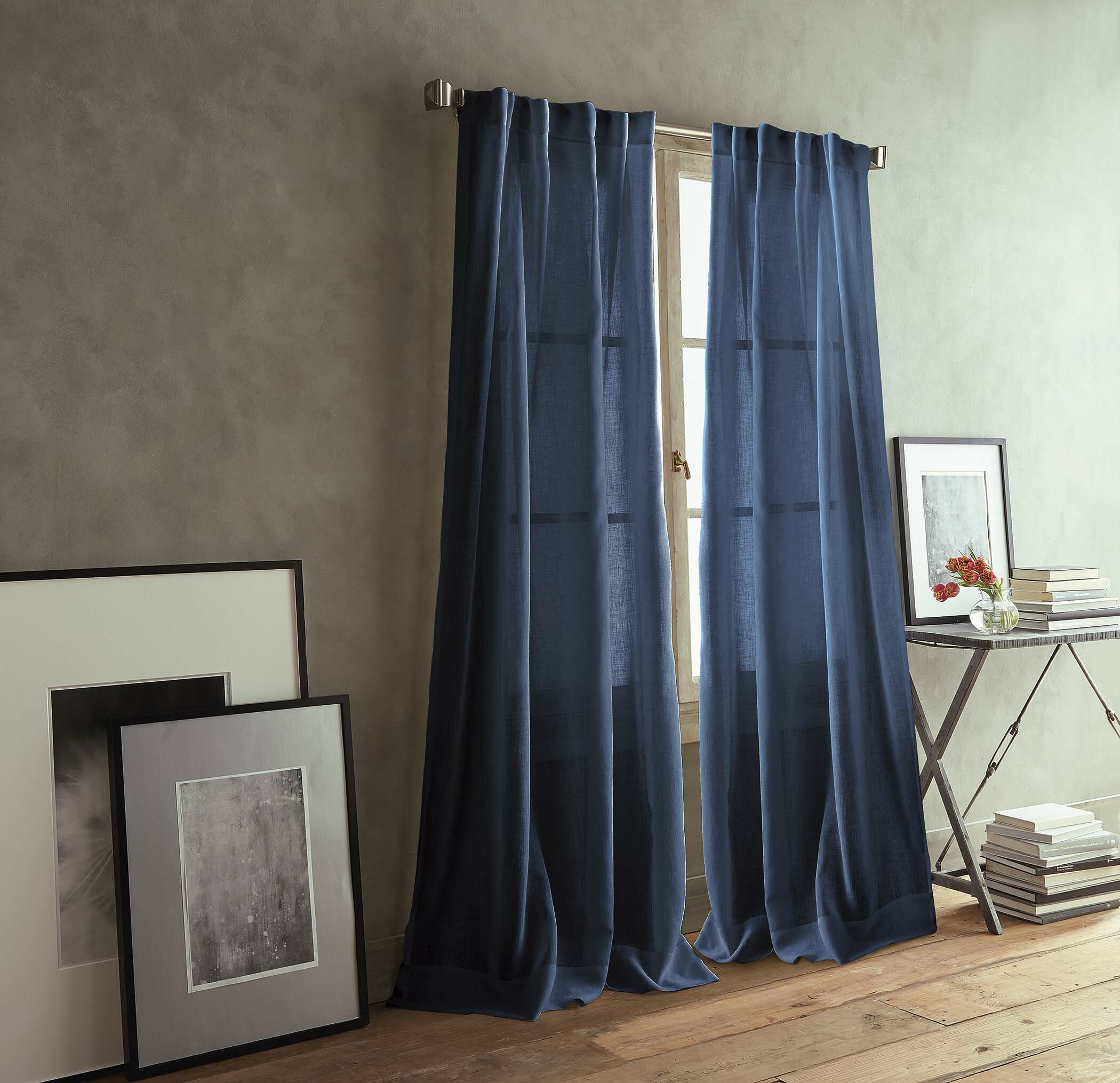 Dkny Paradox Back Tab Solid Semi Sheer Curtain Panels Reviews Wayfair