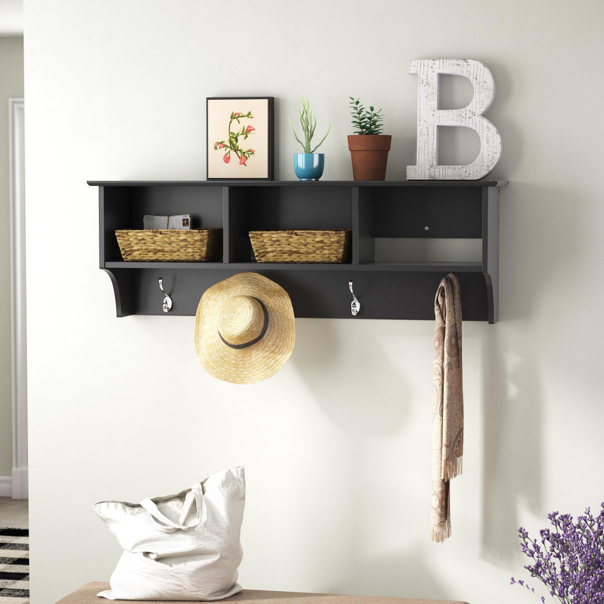 Red Barrel Studio® Kohen Entryway Shelf Wall Mounted Coat Rack