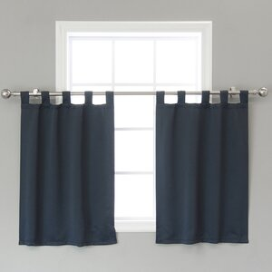 Portersville Solid Blackout Thermal Tab Top 36″ Window Valance (Set of 2)