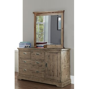 Elise 4 Drawer Dresser with Door and Mirror