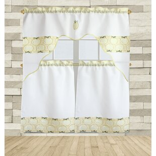 Carver 3 Piece Kitchen Curtain Set by August Grove