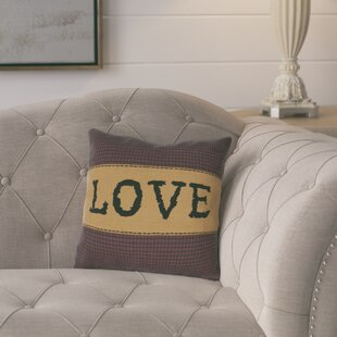 Erekson Love 100% Cotton Throw Pillow