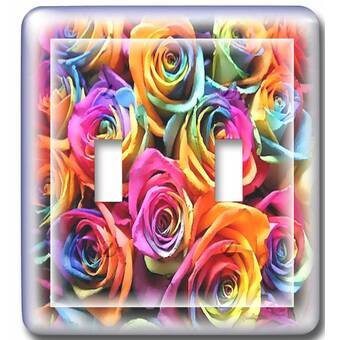 3drose Switch Vintage Heart With Roses 1 Gang Toggle Light Switch Wall Plate Wayfair
