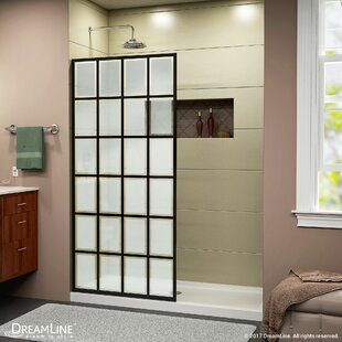 Best Price French Linea 34 x 72 Frameless Fixed Glass Panel with Clearmax™ Technology ByDreamLine