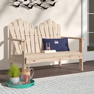 Tillie Wood Garden Bench by Beachcrest Home