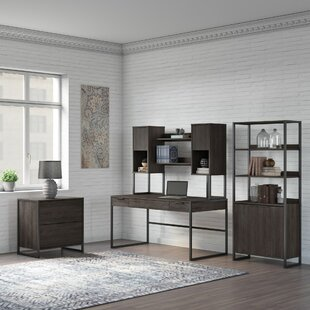 Quiroz 4 Piece Office Set With Hutch by Williston Forge 2019 Coupon