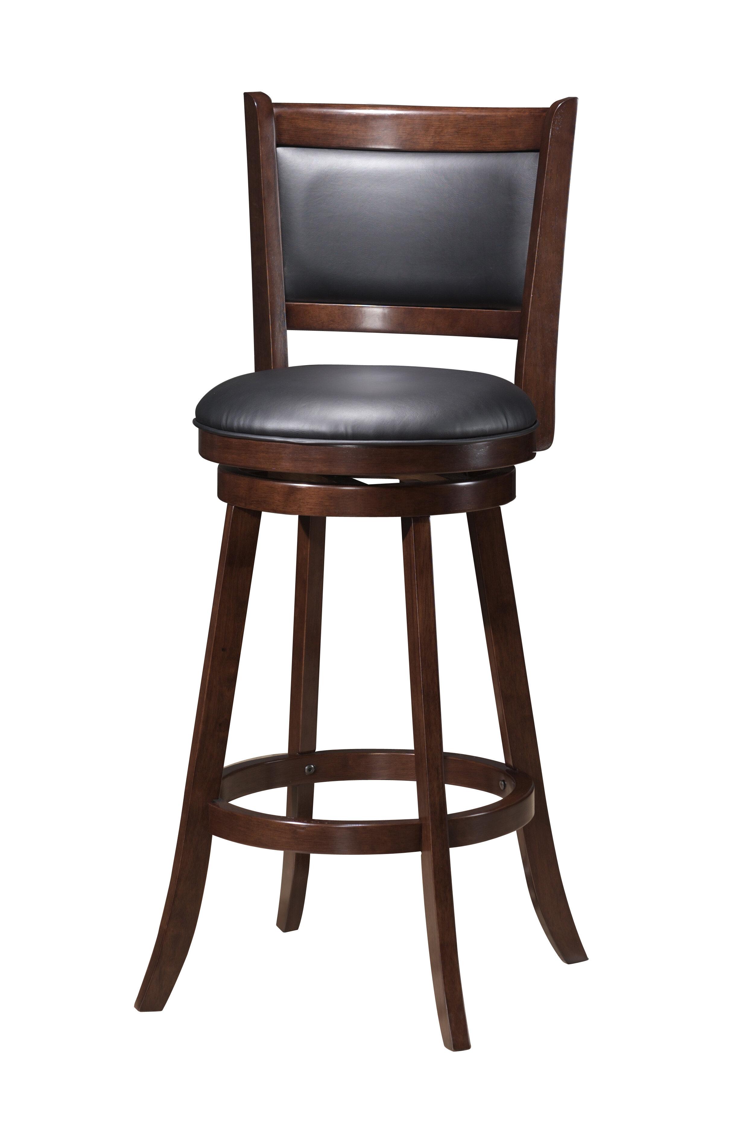 Red barrel studio tuthill wooden swivel bar stool reviews wayfair