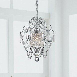 Askham 1-Light Crystal Pendant by House of Hampton