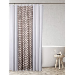 Latham Decorative Polyester 2 Pieces Single Shower Curtain (Set of 2)