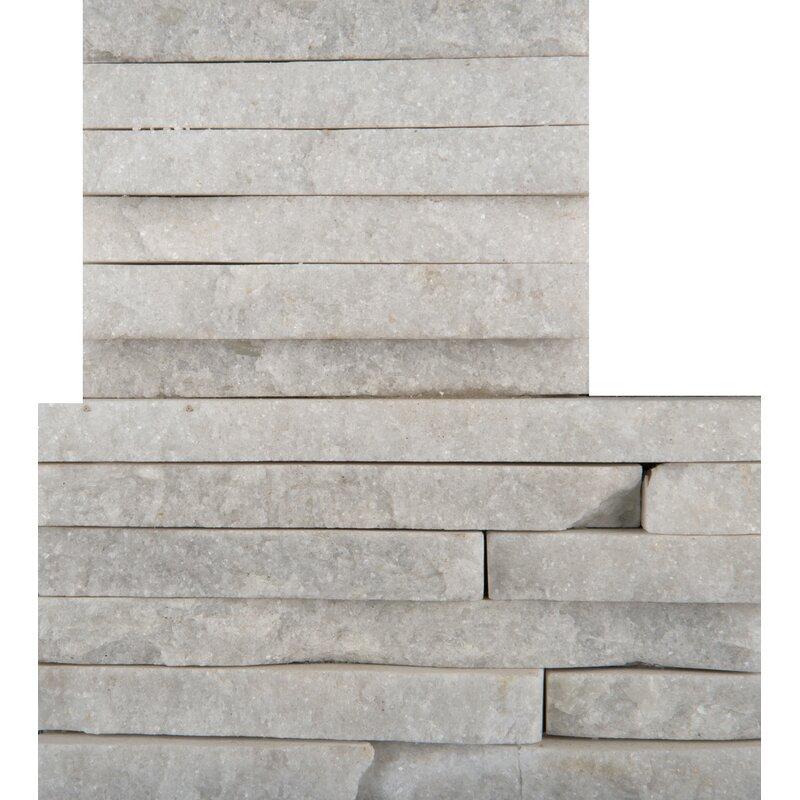 Emser Tile Natural Stone 16 X 6 Natural Stone Bullnose Tile Trim In White Wayfair