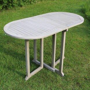 Cardoza Folding And Extendable Rattan Balcony Table Image