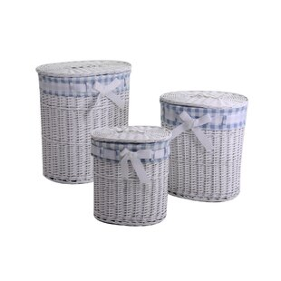 Italo 3 Piece Wicker Laundry Set By August Grove