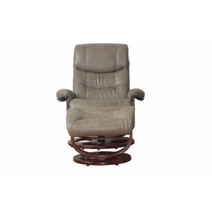 Bradsher Manual Swivel Recliner with Ottoman by Red Barrel Studio