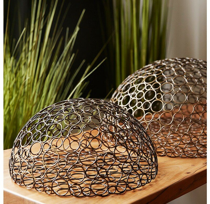Wire Wall Decor gldg half circle wire ball wall décor & reviews | wayfair