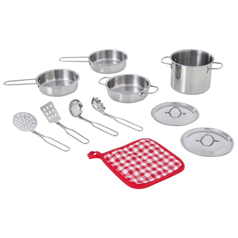 Teamson Kids Little Chef Frankfurt Cooking Accessory Pot And Pan Set Reviews Wayfair