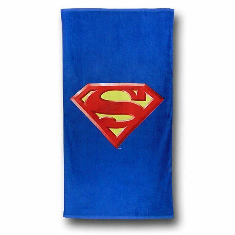 OFFICIAL Superman Lightweight MICROFIBRE Quick Drying Bath//Beach//Swimming Towel