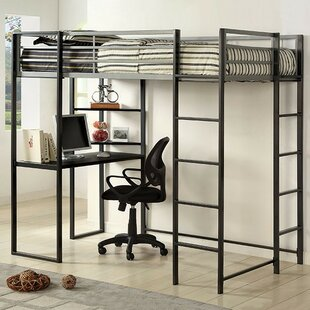 Bourake Loft Bed with Bookcase by Mack & Milo