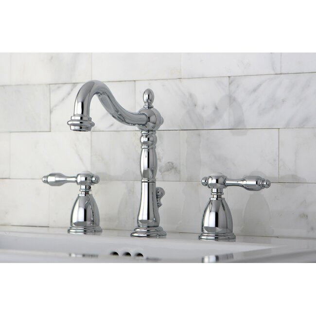 Kingston Brass Tudor Double Handle Widespread Bathroom Faucet with