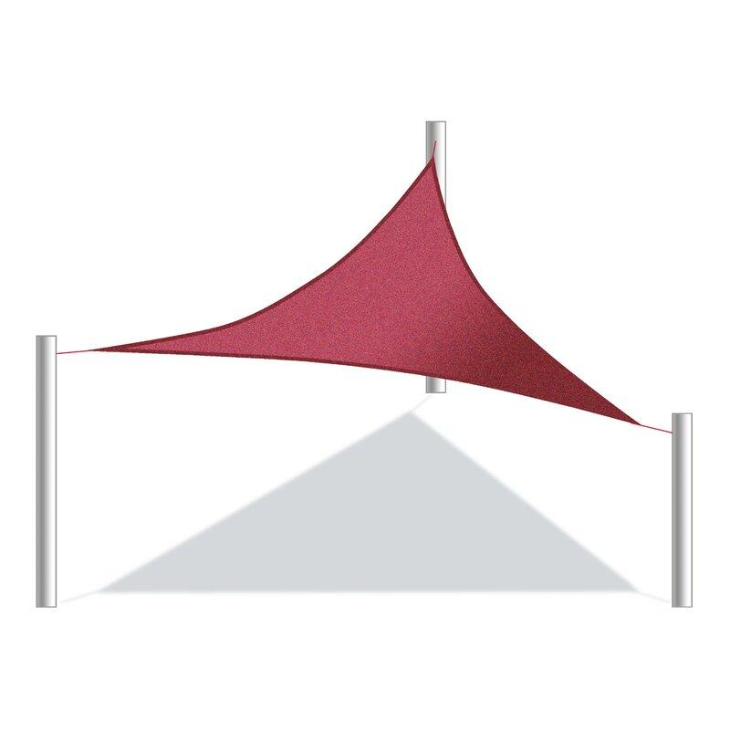ALEKO 12 Triangle Shade Sail  Color: Burgundy