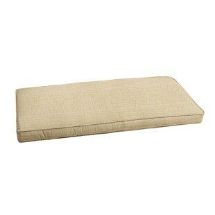Bay Isle Home Textured Indoor/Outdoor Sunbrella Bench Cushion