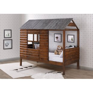 Magana Log Cabin Twin Loft Bed by Zoomie Kids