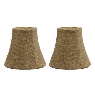 5 Burlap Bell Clip-on Candelabra Shade (Set of 2)