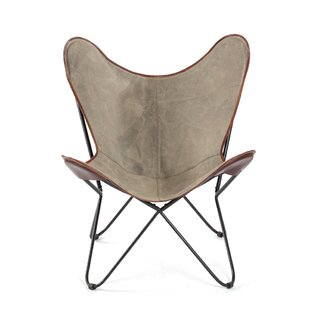 Williston Forge Cammi Iron Butterfly Lounge Chair