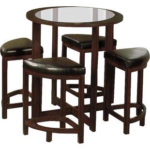 Plumwood 5 Piece Counter Height Dining Set