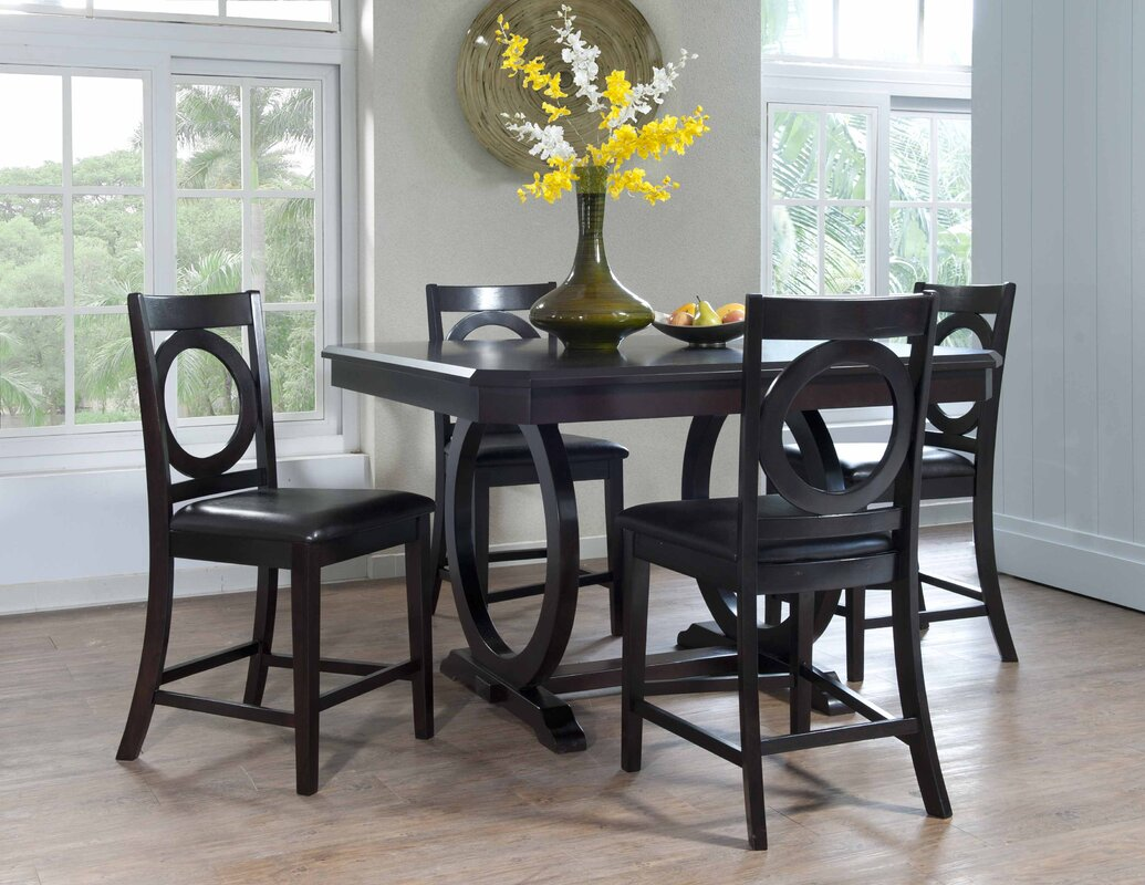 powell brigham  piece counter height dining set  reviews  wayfair -   piece kitchen  dining room sets sku pw defaultname