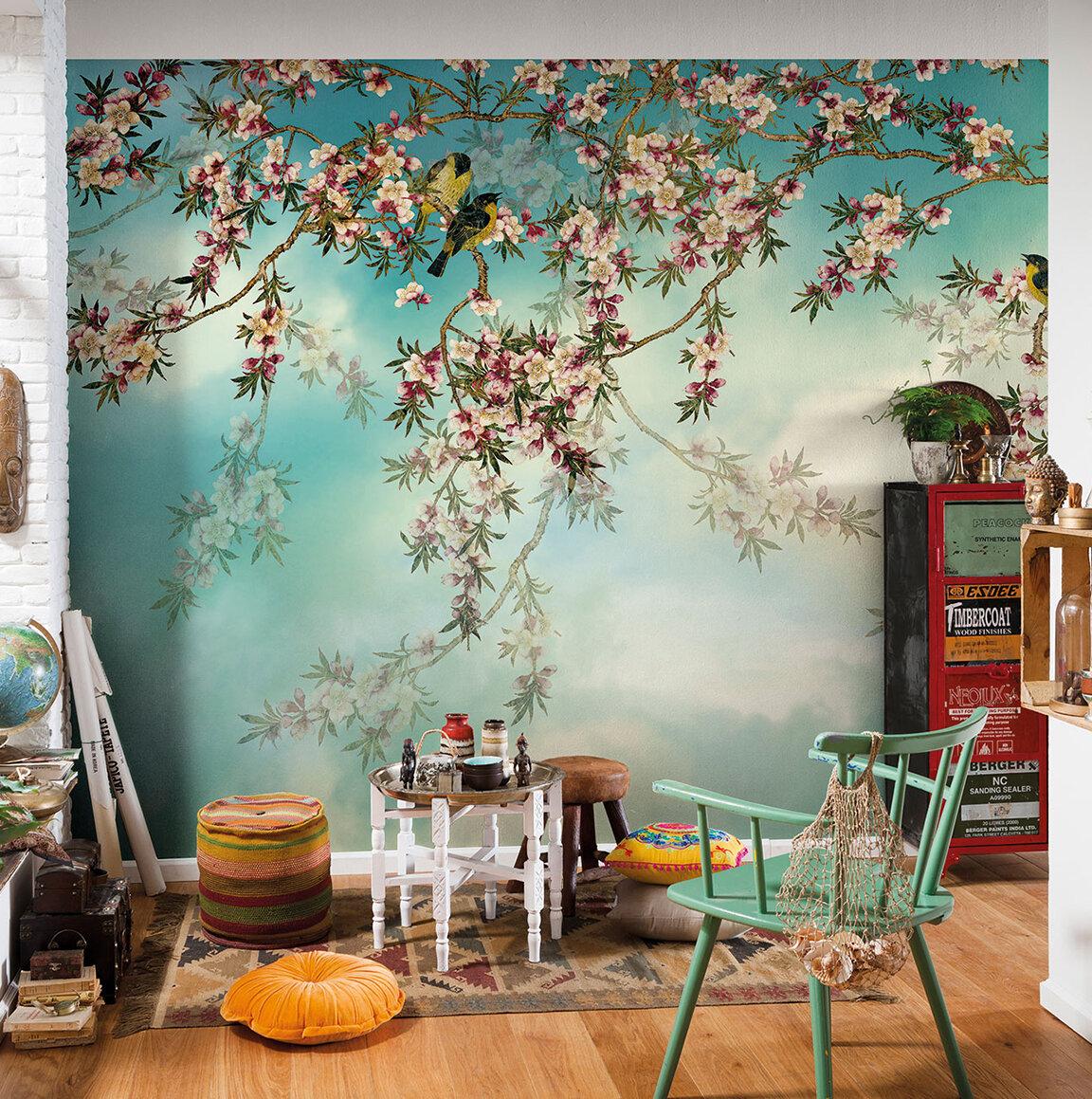 World Menagerie Mcnair Sakura 8 3 W X 12 1 L Texture Panel Wall Mural Wayfair