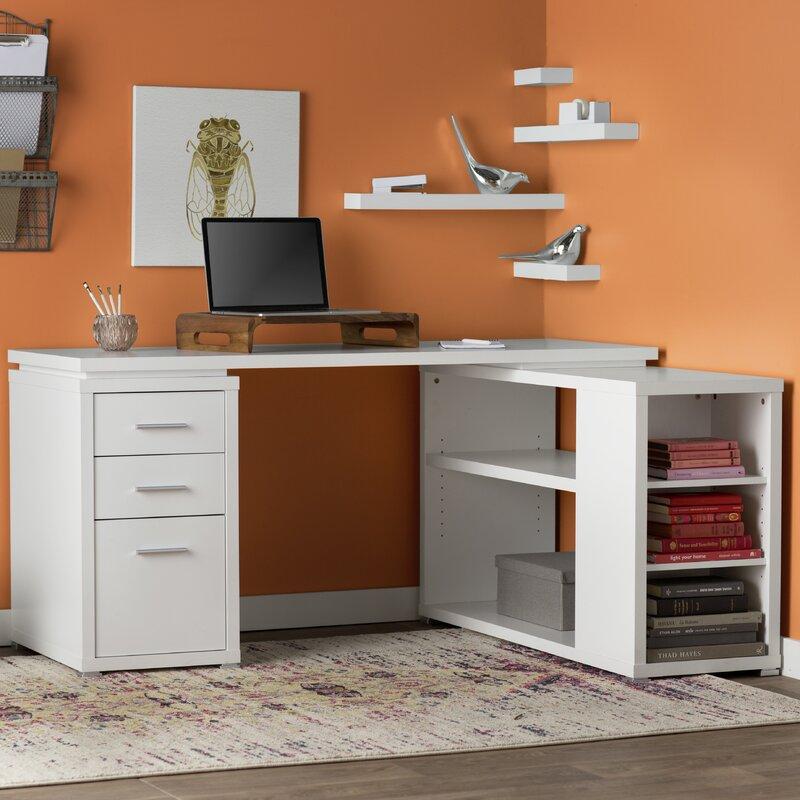 L Shaped Desk Images mercury row senga down l-shape computer desk & reviews | wayfair