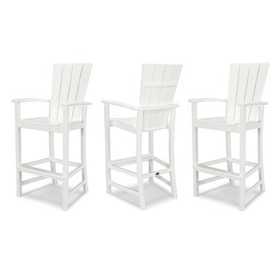 Outstanding Quattro Patio Bar Stool Polywood Finish White Customarchery Wood Chair Design Ideas Customarcherynet