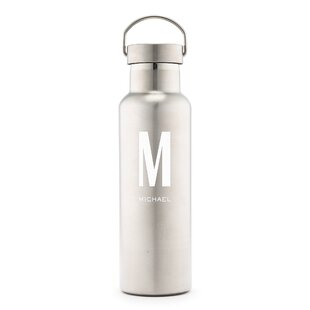 Santoro Custom Monogram Print Personalized 25 oz. Stainless Steel Water Bottle