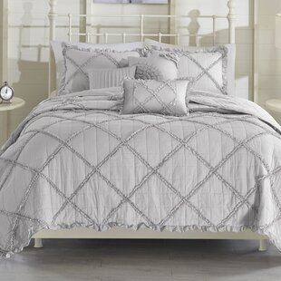 Gurdon 5 Piece Reversible Coverlet Set